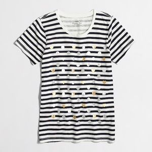 J. Crew Navy Striped collector  T shirt